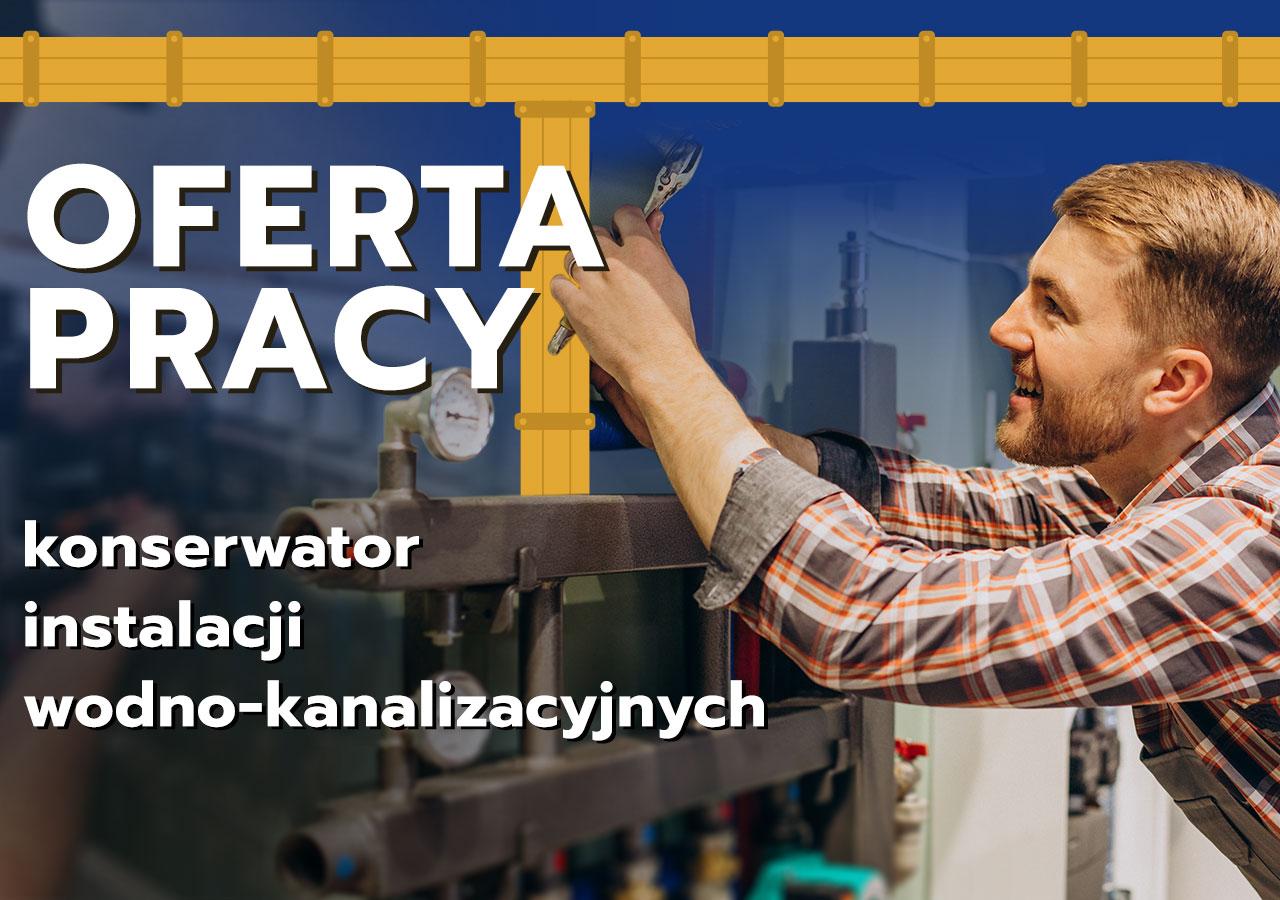 """półdzielnia Mieszkaniowa """"Nadodrze"""" w Głogowie poszukuje osób chętnych do pracy na stanowisku konserwator instalacji wodno-kanalizacyjnych."""